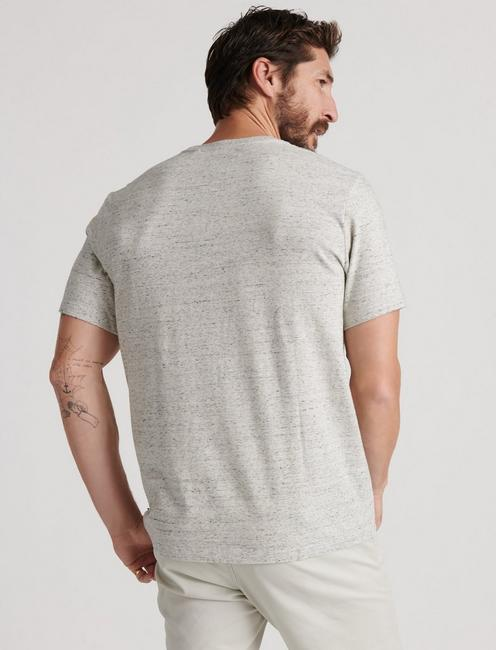 SUNSET POCKET TEE, HEATHER GREY