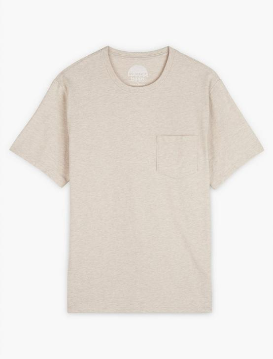 SUNSET POCKET TEE, HEATHER OATMEAL, productTileDesktop