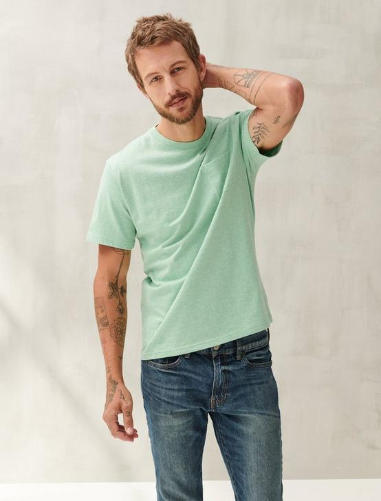 SUNSET POCKET TEE, HEATHER MINT, productTileDesktop