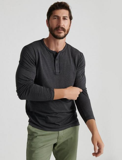 VENICE BURNOUT HENLEY, #001 BLACK