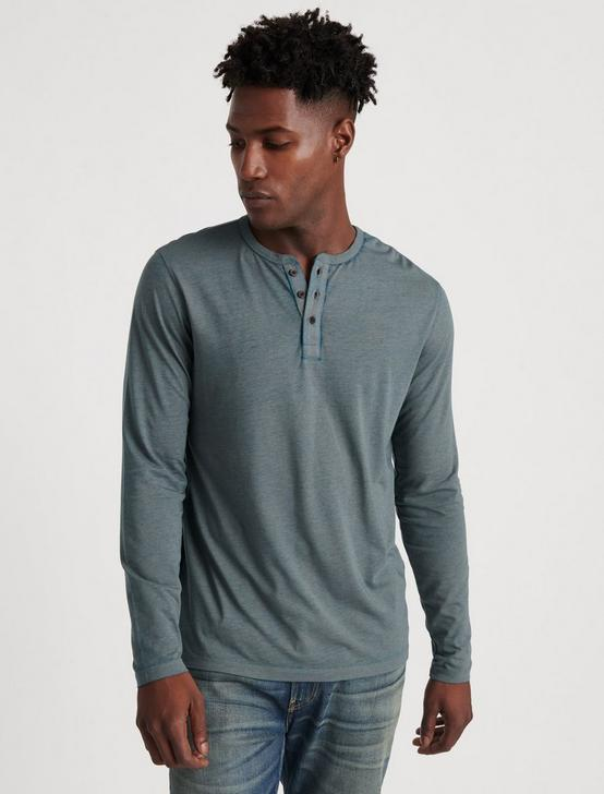 VENICE BURNOUT HENLEY, GRANITE GREEN, productTileDesktop