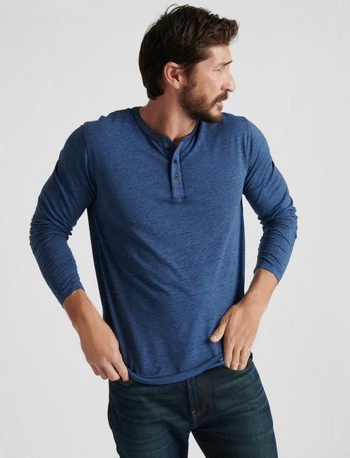 VENICE BURNOUT HENLEY, #458 BLUE
