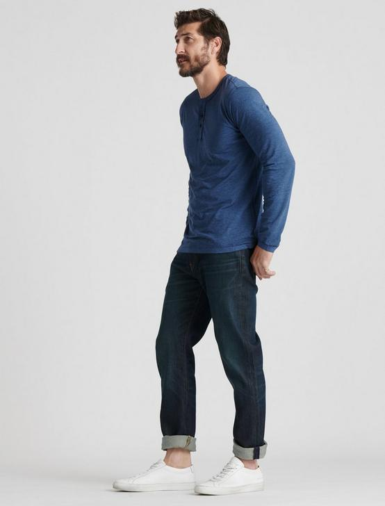 VENICE BURNOUT HENLEY, #458 BLUE, productTileDesktop