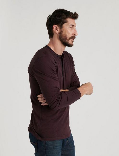 VENICE BURNOUT HENLEY, #550 BURGANDY