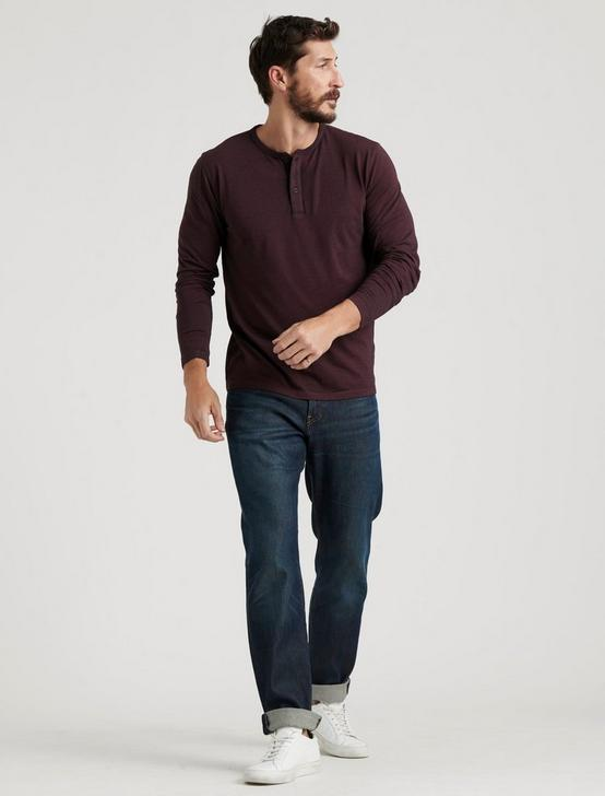 VENICE BURNOUT HENLEY, #550 BURGANDY, productTileDesktop