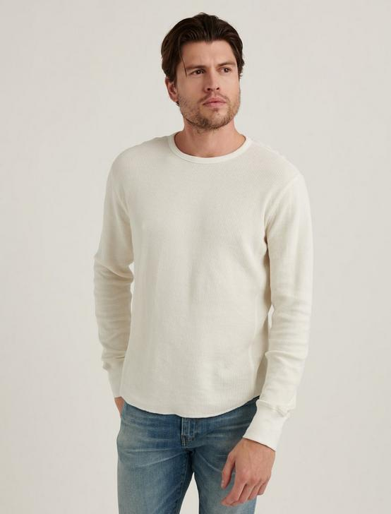 FRENCH RIB LONG SLEEVE CREW NECK, CLOUD DANCER, productTileDesktop