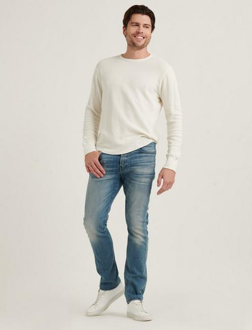 FRENCH RIB LONG SLEEVE CREW NECK, CLOUD DANCER