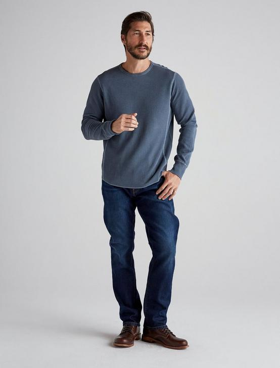 FRENCH RIB LONG SLEEVE CREW NECK, SLATE BLUE, productTileDesktop