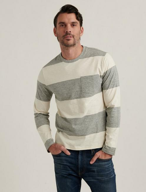 JERSEY STRIPE LONG SLEEVE TEE,