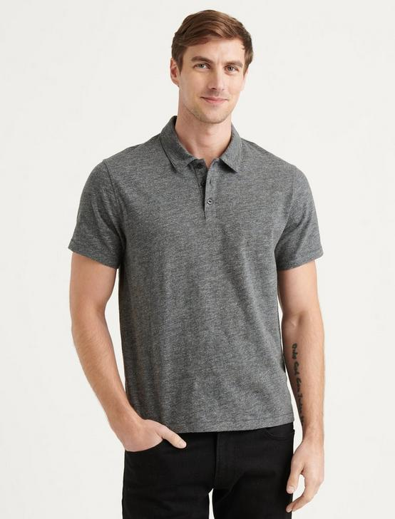 HIGH TWIST POLO, CHARCOAL, productTileDesktop