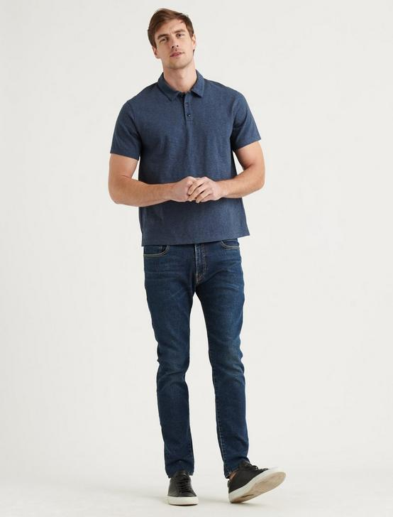 HIGH TWIST POLO, NAVY, productTileDesktop