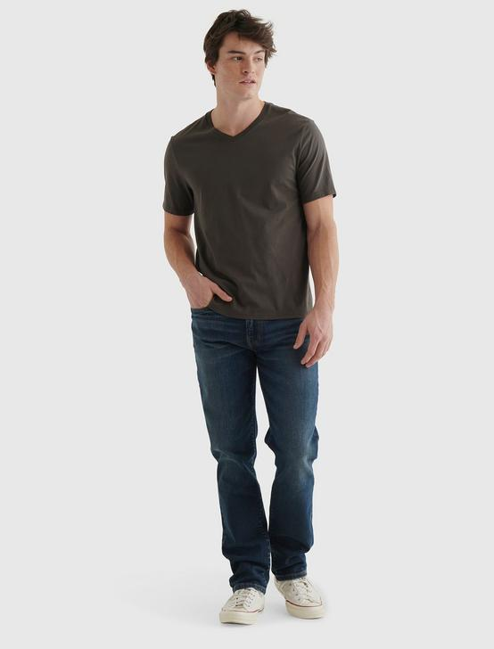 PIMA V-NECK, RAVEN, productTileDesktop