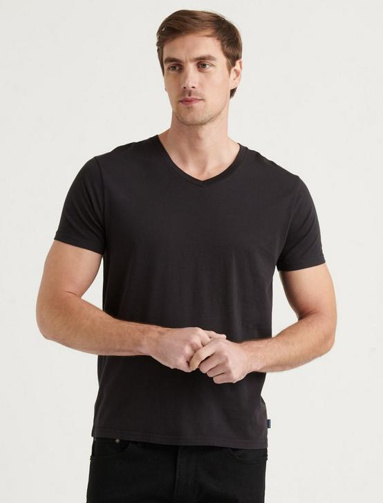PIMA V-NECK, BLACK ONYX, productTileDesktop