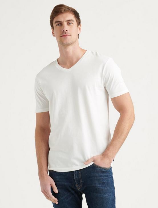 PIMA V-NECK, BRIGHT WHITE, productTileDesktop