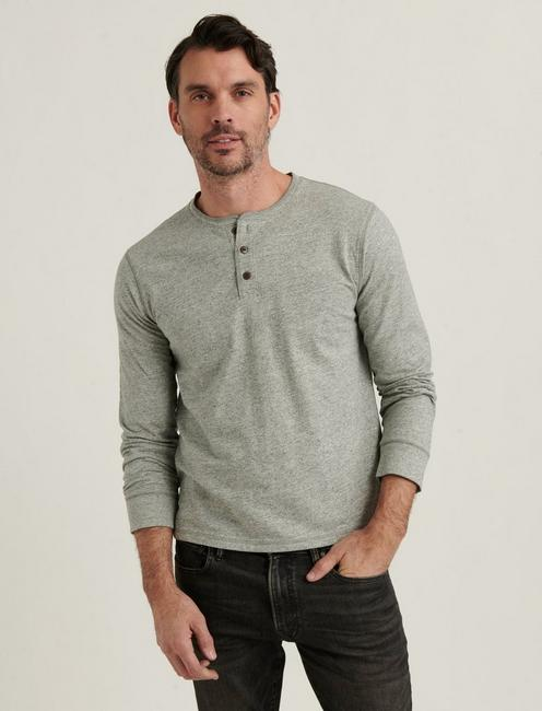 HIGH TWIST HENLEY, HEATHER GREY