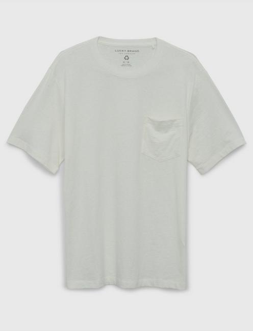 RECYCLED POCKET TEE, WHITE