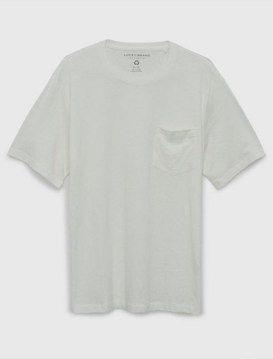 RECYCLED POCKET TEE, WHITE, productTileDesktop