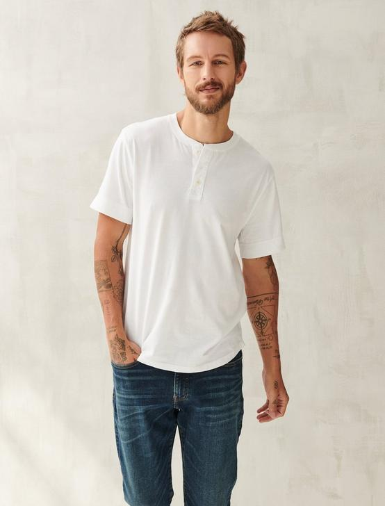 PIMA COTTON HENLEY, BRIGHT WHITE, productTileDesktop