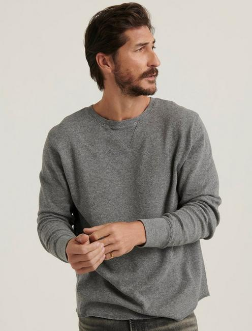 BRUSHED THERMAL CREW, HEATHER GREY
