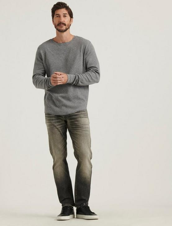 BRUSHED THERMAL CREW, HEATHER GREY, productTileDesktop
