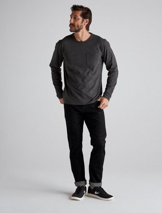 LONG SLEEVE COOLMAX TEE, JET BLACK, productTileDesktop
