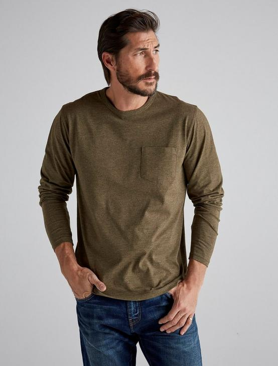 LONG SLEEVE COOLMAX TEE, IVY GREEN, productTileDesktop