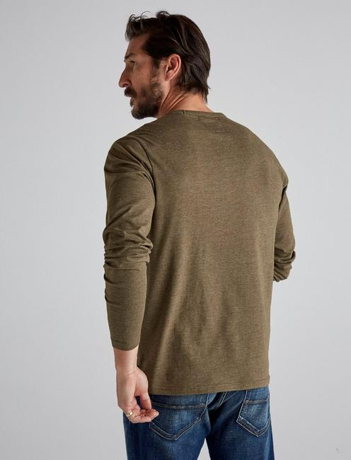 LONG SLEEVE COOLMAX TEE, IVY GREEN