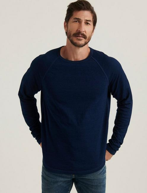 INDIGO DOUBLE KNIT CREW,