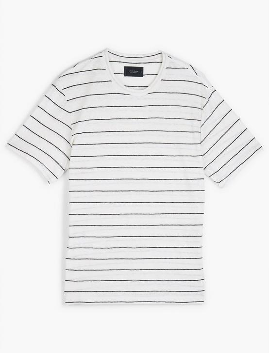 STRIPE LINEN TEE, MULTI, productTileDesktop