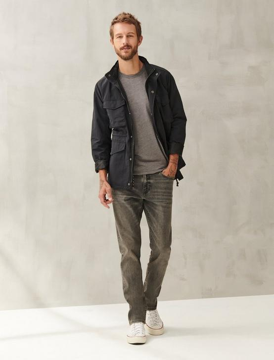 LINEN CREW TEE, #1631 CHARCOAL GRAY, productTileDesktop