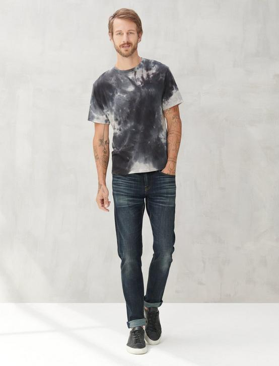 DISTORTED TIE DYE TEE, BLACK TIE DYE, productTileDesktop