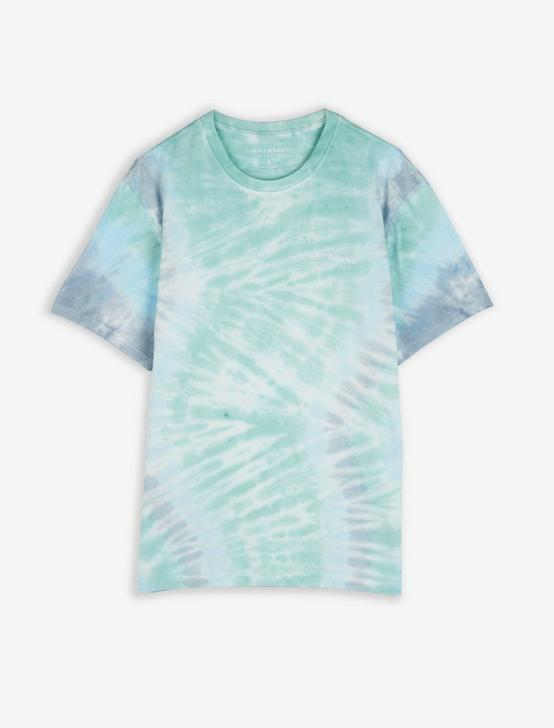 DISTORTED TIE DYE TEE, BLUE TYE DYE, productTileDesktop