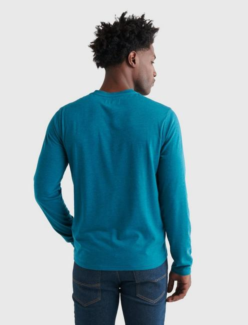 TENCEL JERSEY HENLEY, DEEP LAKE