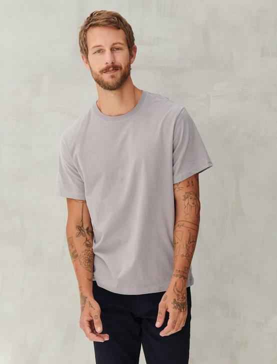 SUEDED JERSEY TEE, FROST GREY, productTileDesktop