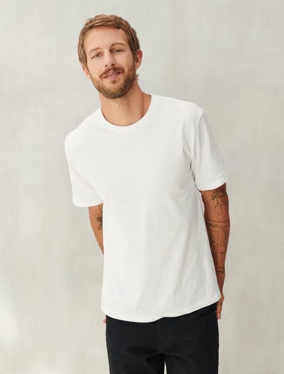 SUEDED JERSEY TEE, BRIGHT WHITE, productTileDesktop