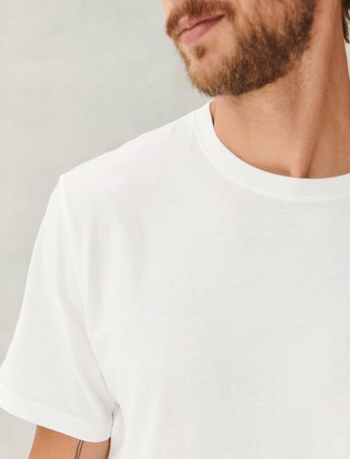 SUEDED JERSEY TEE, BRIGHT WHITE