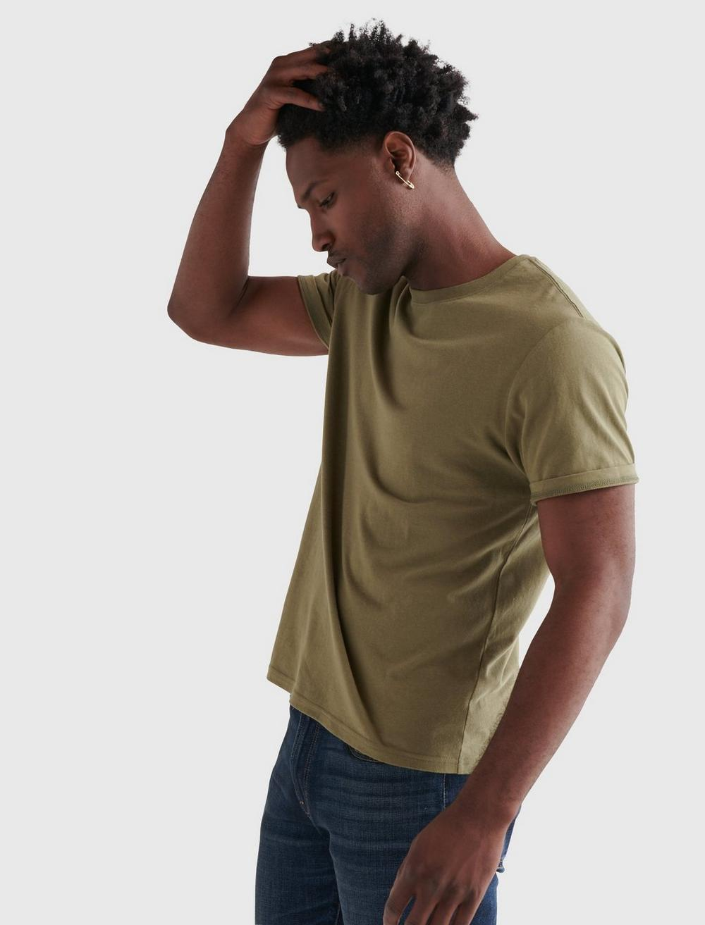 SUEDED JERSEY TEE, image 3