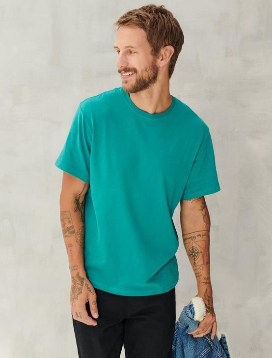 SUEDED JERSEY TEE, DEEP LAKE, productTileDesktop