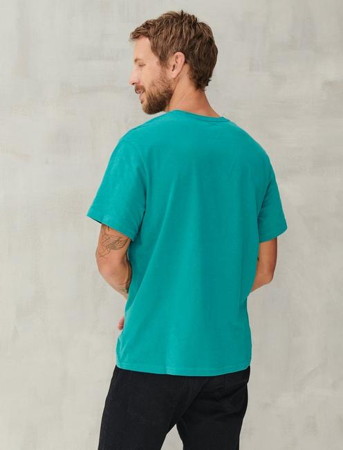 SUEDED JERSEY TEE, DEEP LAKE