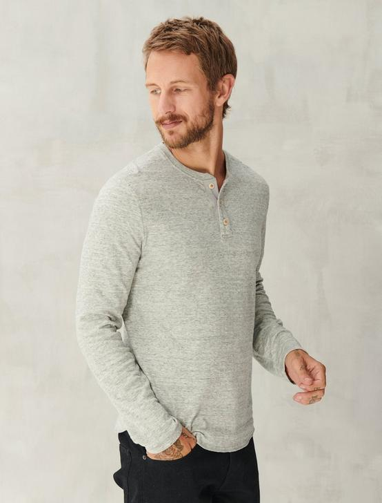 DUOFOLD HENLEY, HEATHER GREY, productTileDesktop