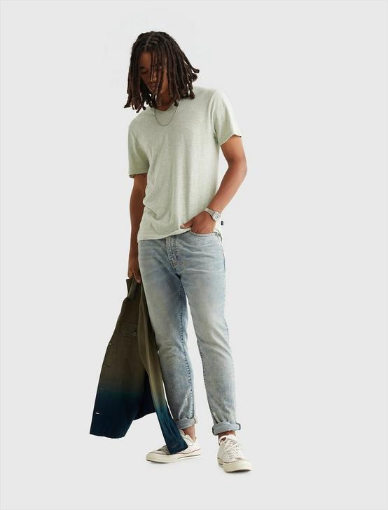 LINEN V-NECK, SEA FOAM, productTileDesktop