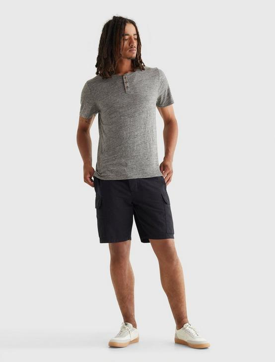 LINEN HENLEY, HEATHER GREY, productTileDesktop
