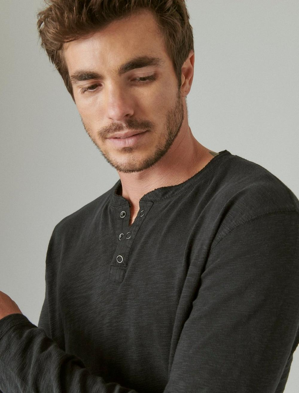 WASHED SNAP-BUTTON HENLEY, image 5