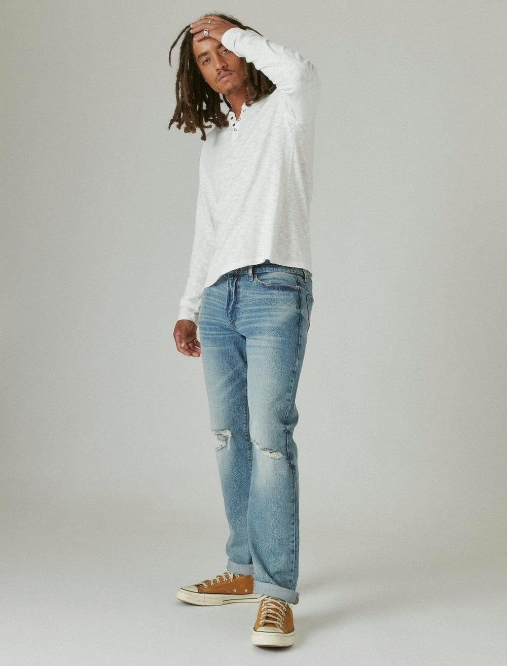 WASHED SNAP-BUTTON HENLEY, image 2
