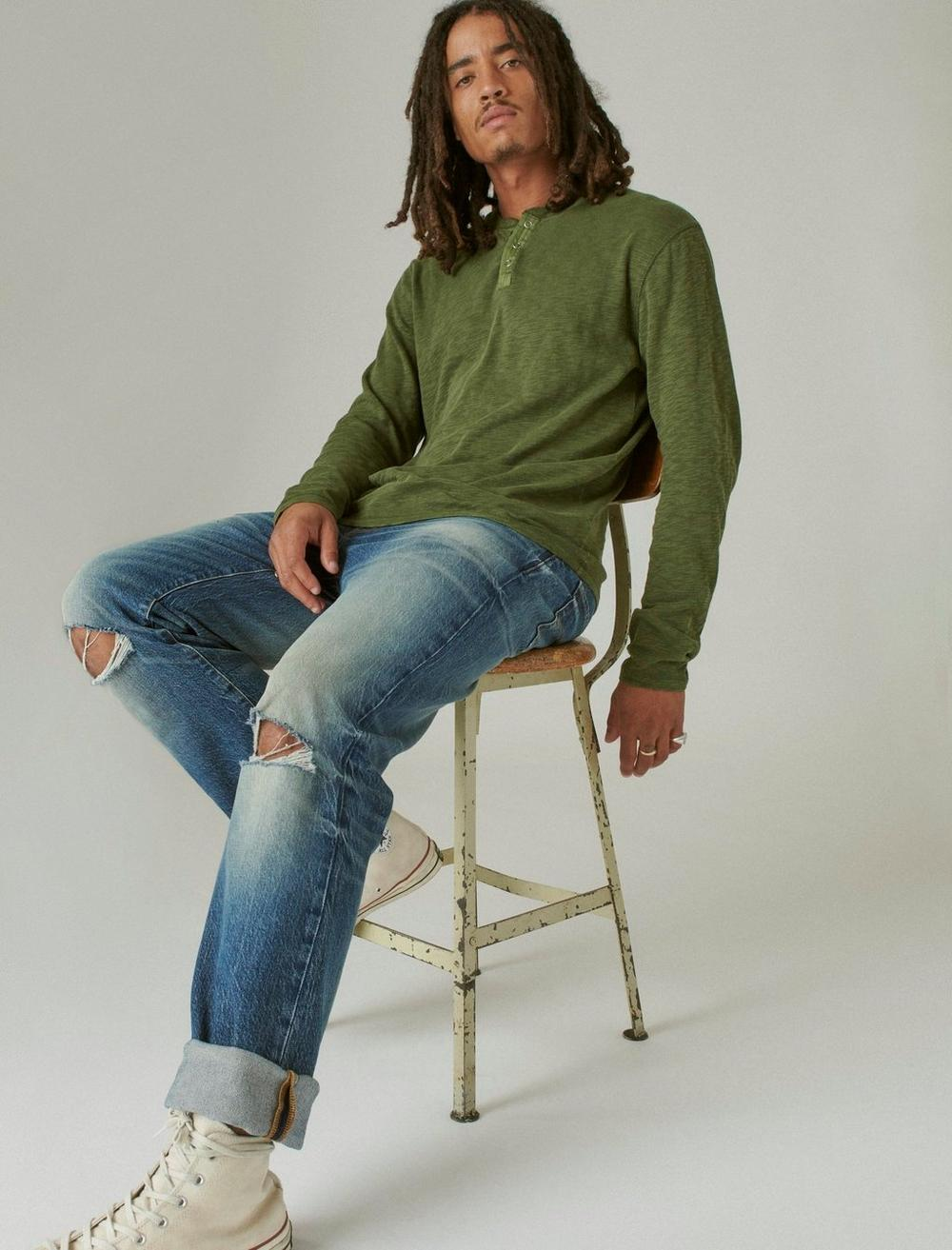 WASHED SNAP-BUTTON HENLEY, image 6