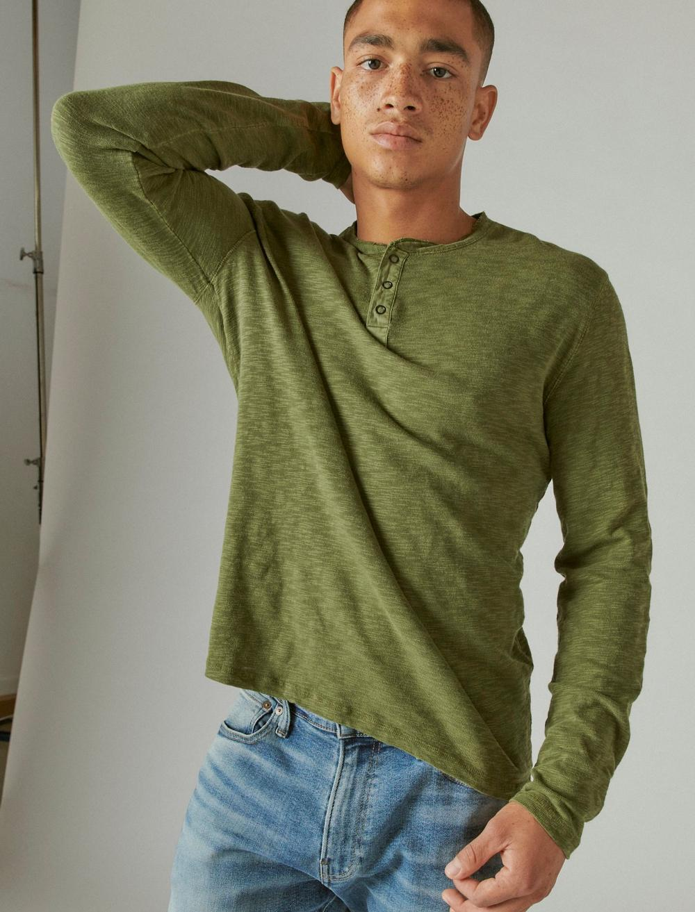 WASHED SNAP-BUTTON HENLEY, image 1