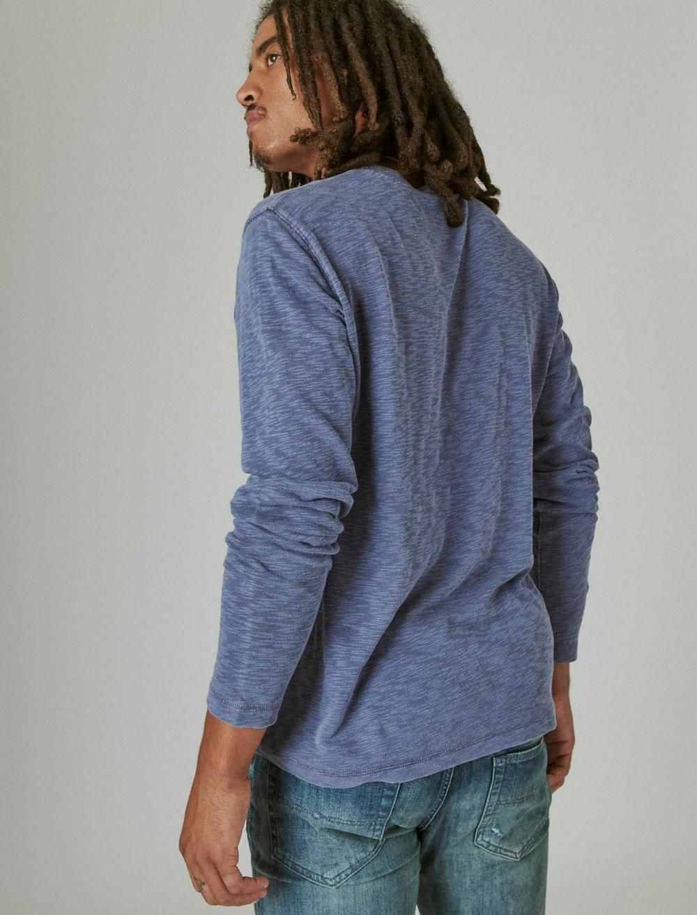 WASHED SNAP-BUTTON HENLEY, image 4