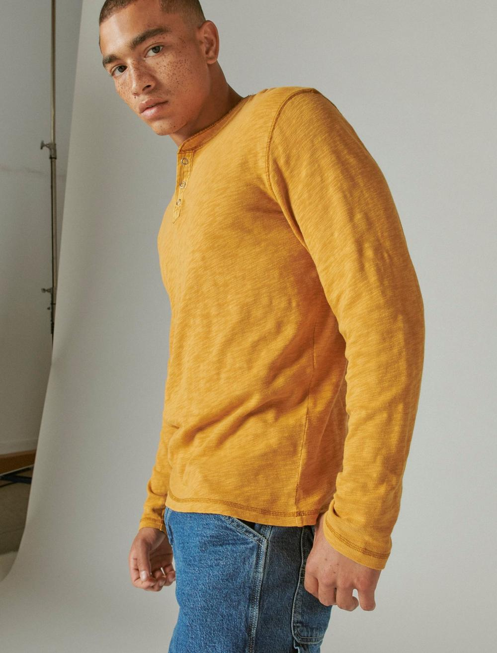WASHED SNAP-BUTTON HENLEY, image 3