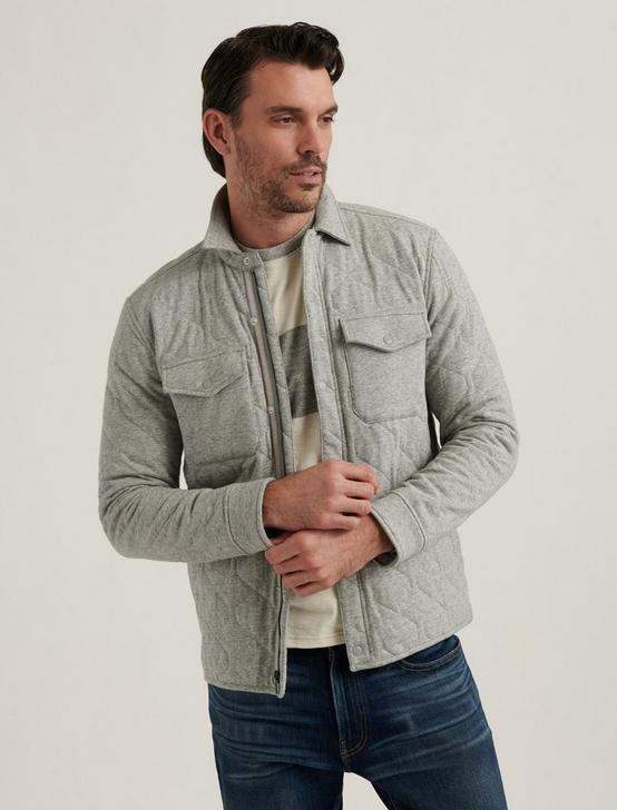 QUILTED JACKET, HEATHER GREY, productTileDesktop