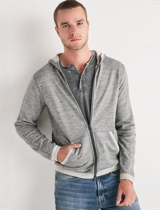 COOLMAX ALL SEASON TECHNOLOGY ZIP HOODIE, HEATHER GREY, productTileDesktop